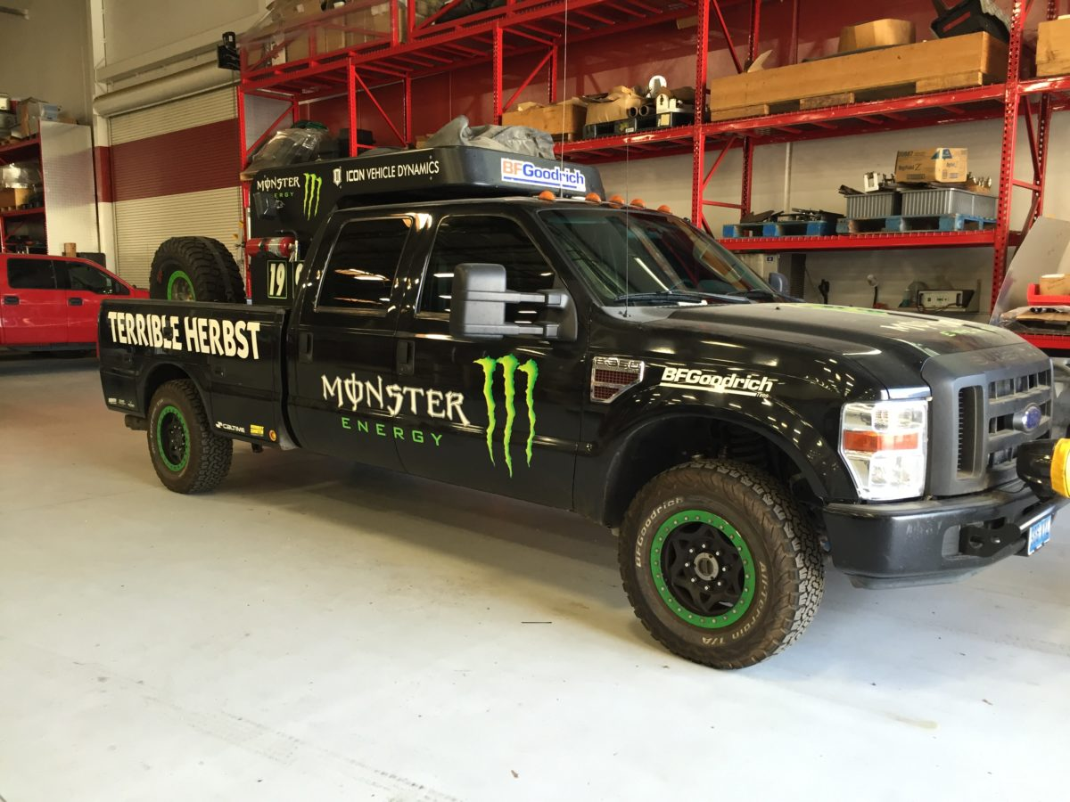 Race Support Trucks Get Ceramic Window Tint to Stay Cool